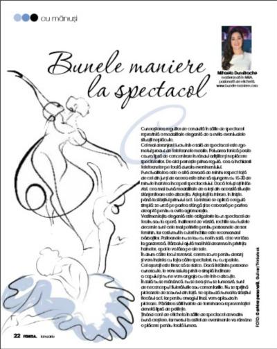 Bunele maniere la spectacol_Revista Femeia_Ianuarie 2016